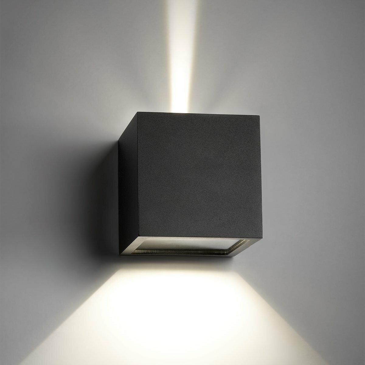 CUBE LED up-down wandlamp van Lightpoint